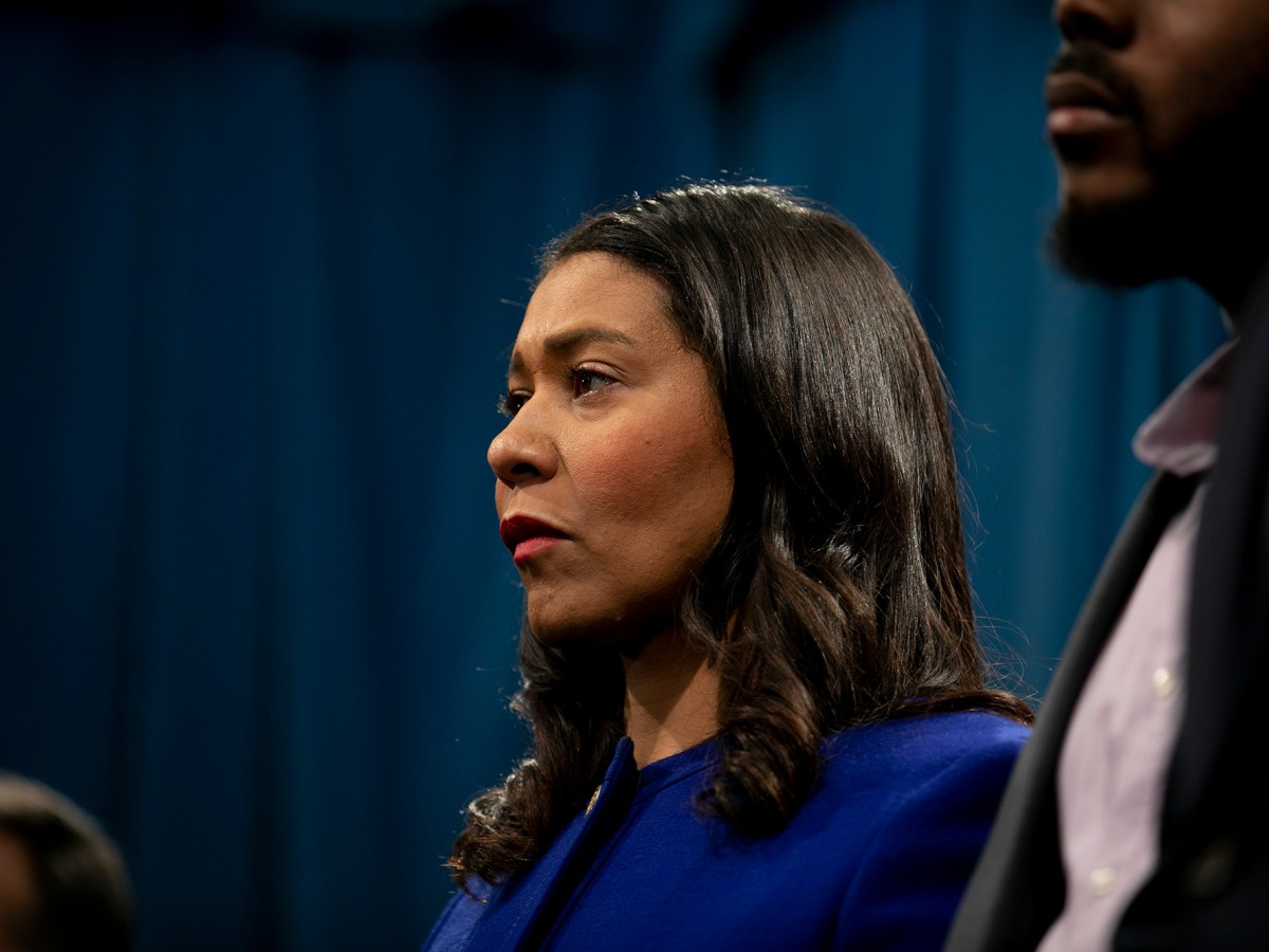 San Francisco Mayor London Breed in Sacramento on March 9, 2020. Photo by Anne Wernikoff for CalMatters
