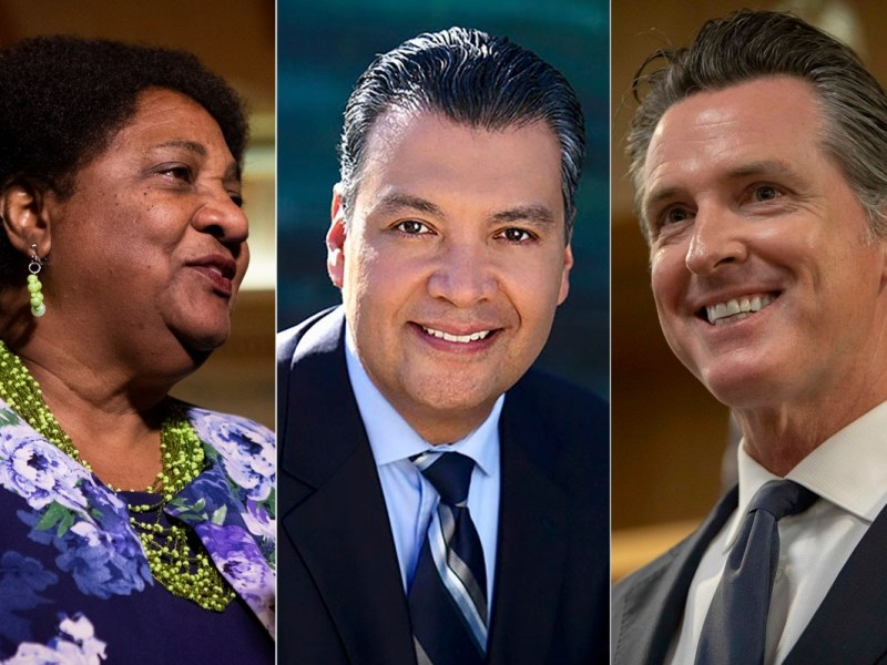La asambleísta Shirly Weber fue nombrada Secretaria de Estado de California después de que el actual secretario Alex Padilla fuera nombrado para el Senado de los Estados Unidos esta mañana. Foto de Anne Wernikoff, CalMatters; Wikimedia Commons
