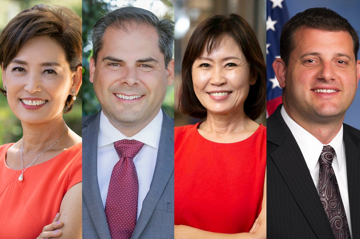 From left: Rep. Young Kim; Rep. Mike Garcia; Rep. Michelle Steel; Rep. David Valadao. Photos courtesy of campaigns