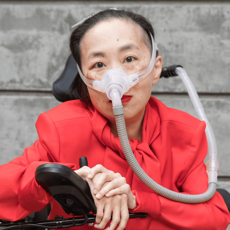 Disability activist Alice Wong relies on a wheelchair and ventilator due to a progressive condition but at 46 years old is no longer prioritized for a COVID-19 vaccine. Photo by Eddie Hernandez courtesy of Disability Visibility Project