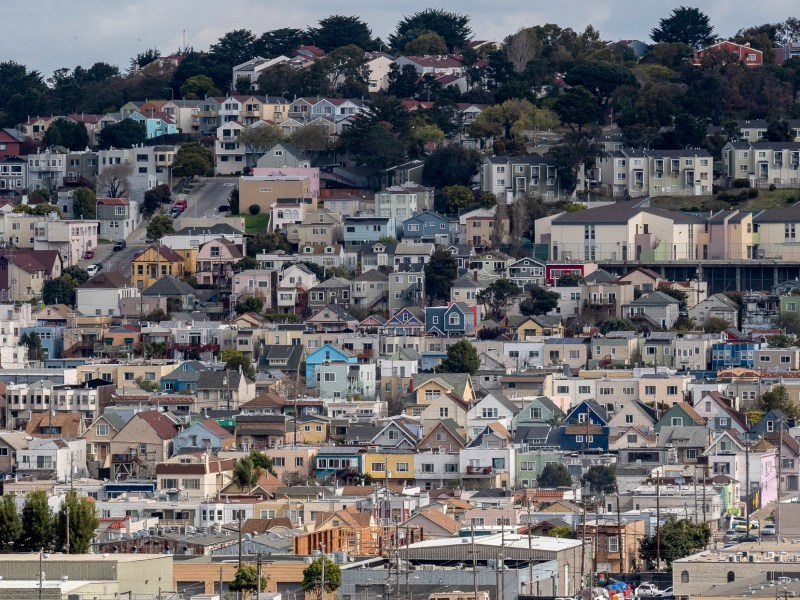 A sea of homes are photographed from Bayview Park in San Francisco, on Tuesday, March 9, 2021. Photo by David Rodrigues, The Salinas Californian