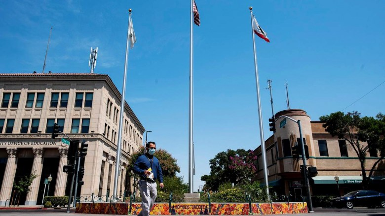 Bob Hart Square in downtown Merced on Monday, Aug. 17, 2020. Photo by Andrew Kuhn, The Merced Sun-Star