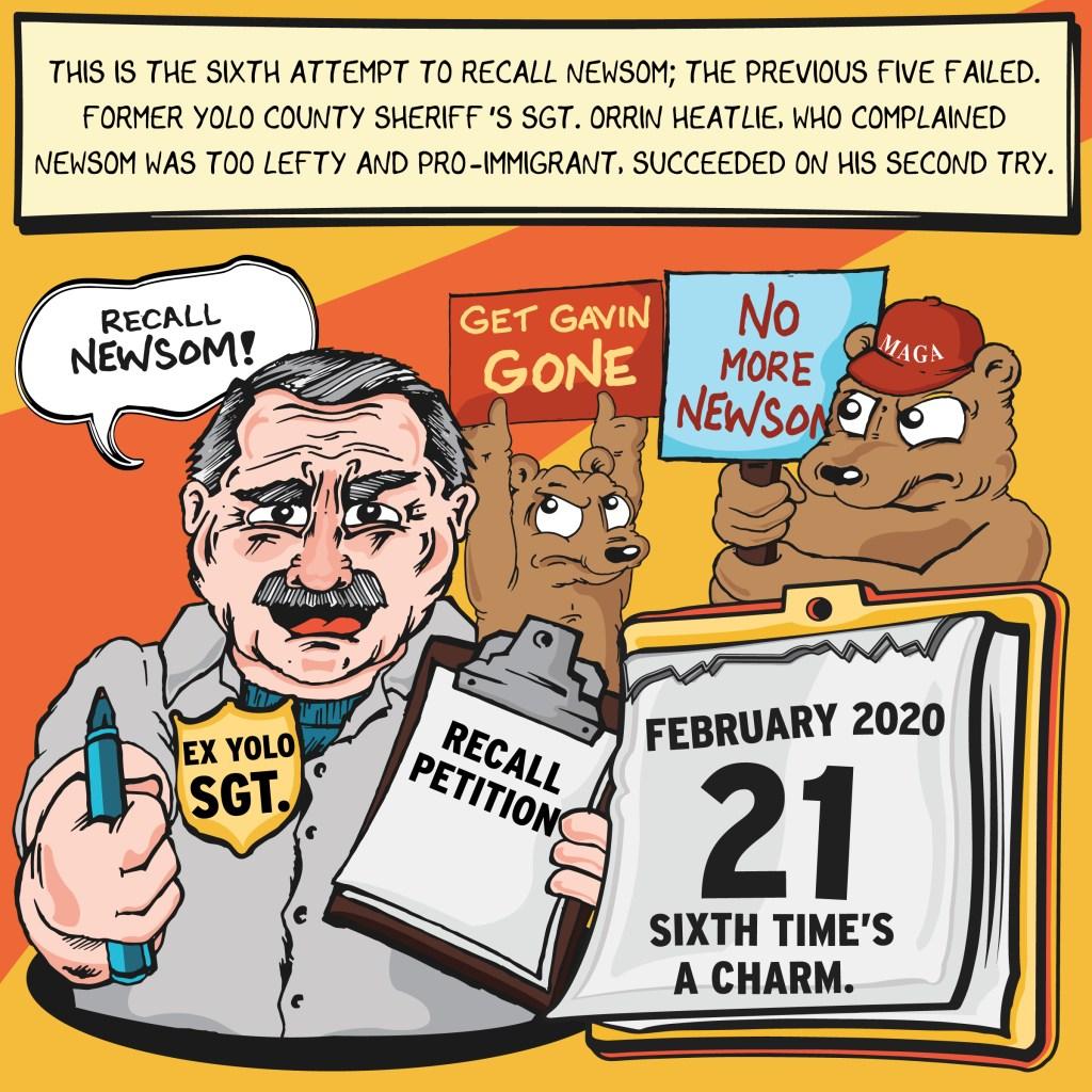Orrin Heatlie's second recall attempt against Gavin Newsom succeeds after five previous ones fail