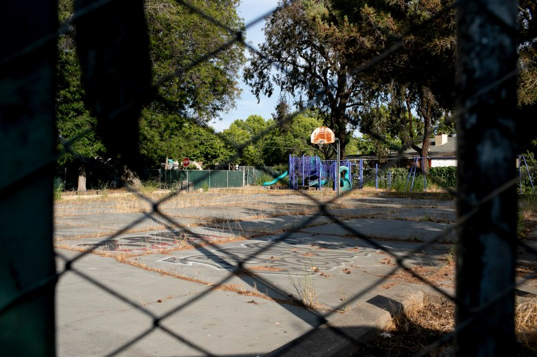 Tyrone Carney Park has been closed for more than 20 years. Photo by Anne Wernikoff, CalMatters