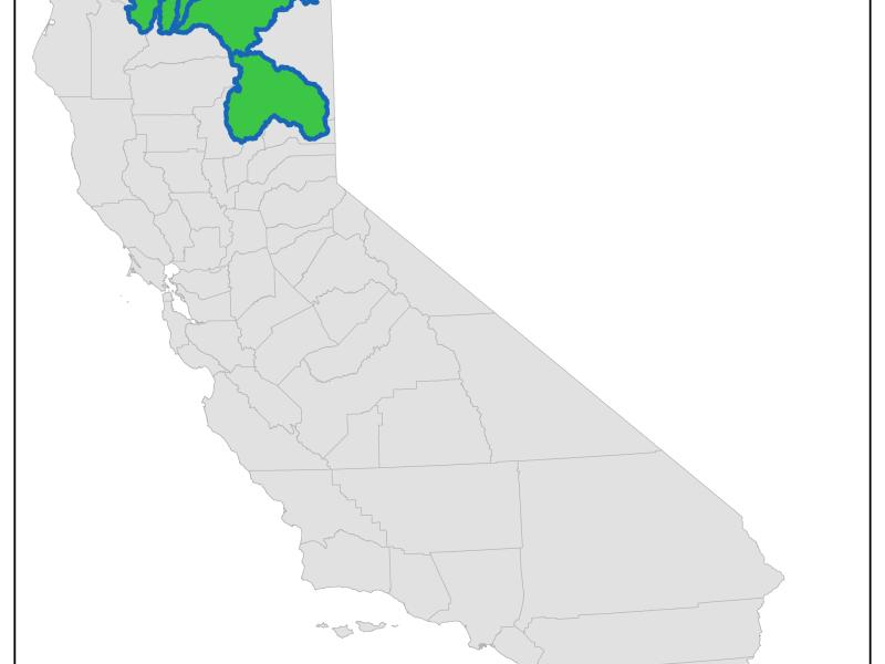 Sacramento River headwaters region