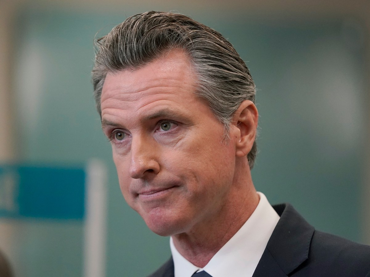 Gov. Gavin Newsom speaks at a news conference in Oakland, July 26, 2021. Photo by Jeff Chiu, AP Photo