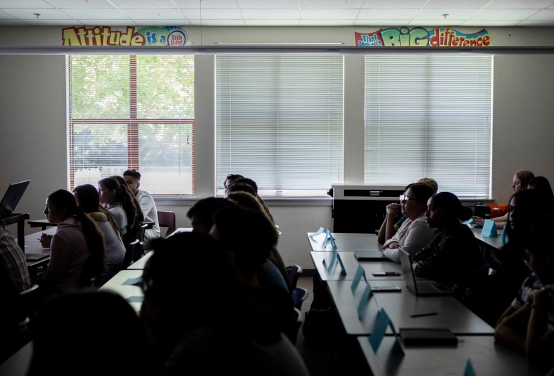 A history class at Piner High School in Santa Rosa on August 14, 2019. Photo by Anne Wernikoff for CalMatters