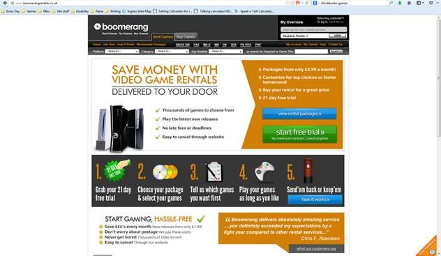 Whats the Best UK Games Rental Service: Boomerang Games vs Blockbuster