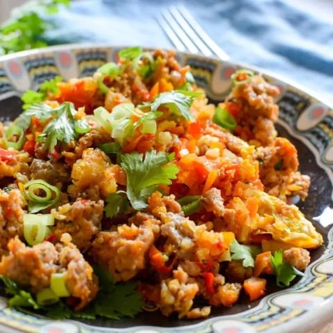 Keto Sausage and Vegetable Stir-Fry (Vegan Option)