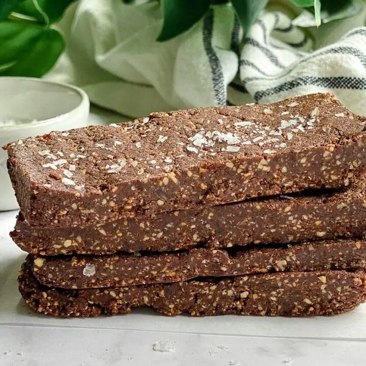 Homemade Chocolate Sea Salt RxBars (Vegan, Paleo)