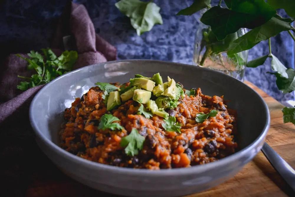 30 Minute Vegan Black Bean Sweet Potato Chili