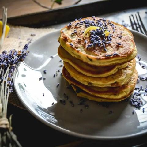 Paleo Lavender Lemon Pancakes