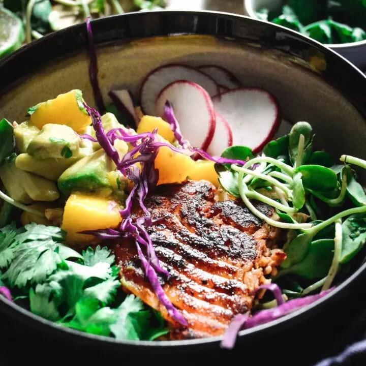 Easy Fish Taco Bowl with Mango Salsa