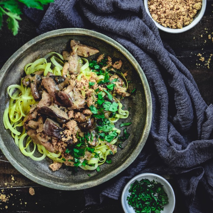 Chicken Tetrazzini with Rutabaga Noodles (Paleo, Whole 30)