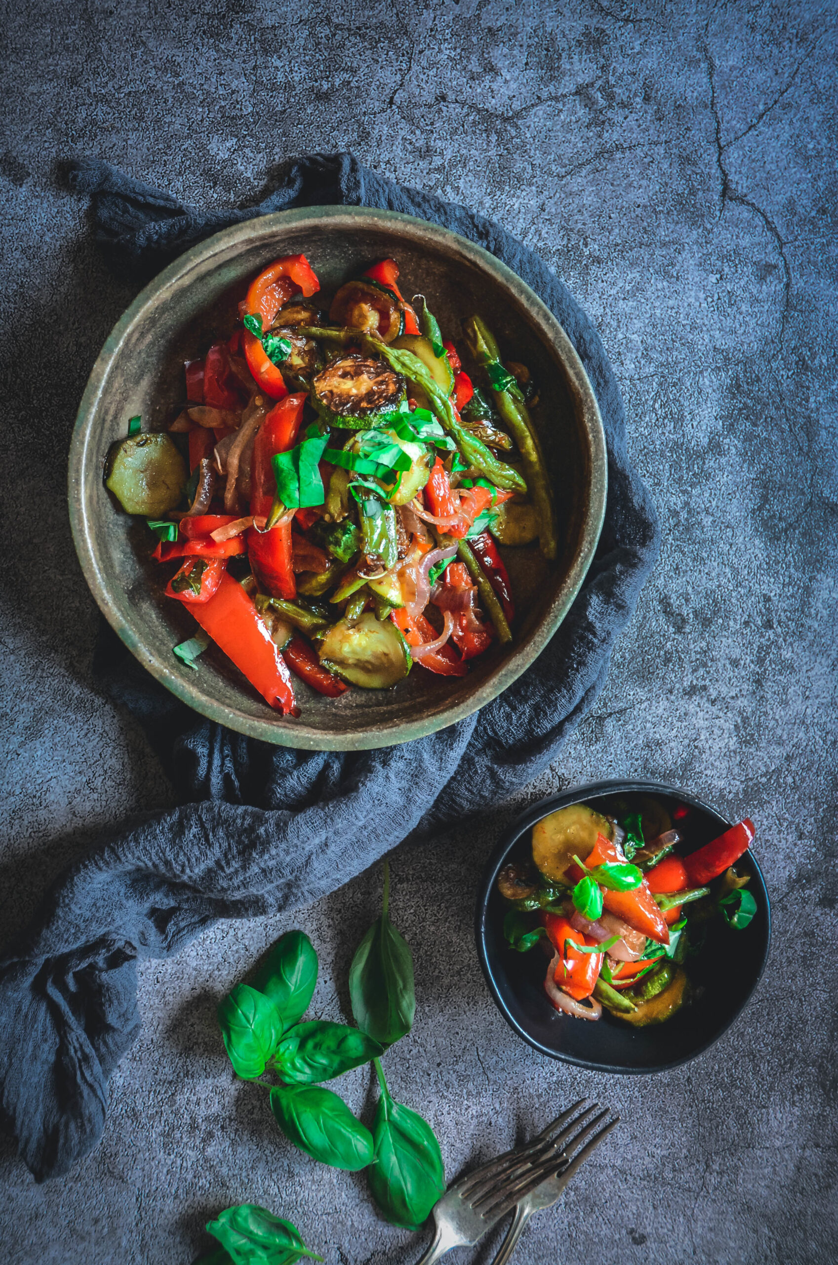 Grilled Vegetables with Balsamic and Basil
