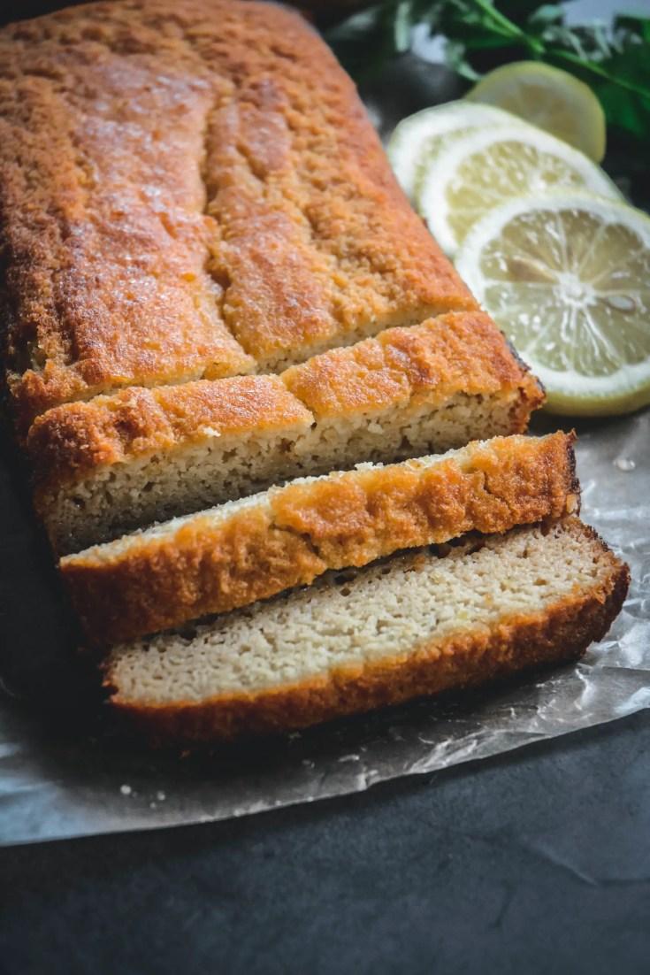 Glazed Lemon Loaf Cake from the Chinese Medicine Cookbook