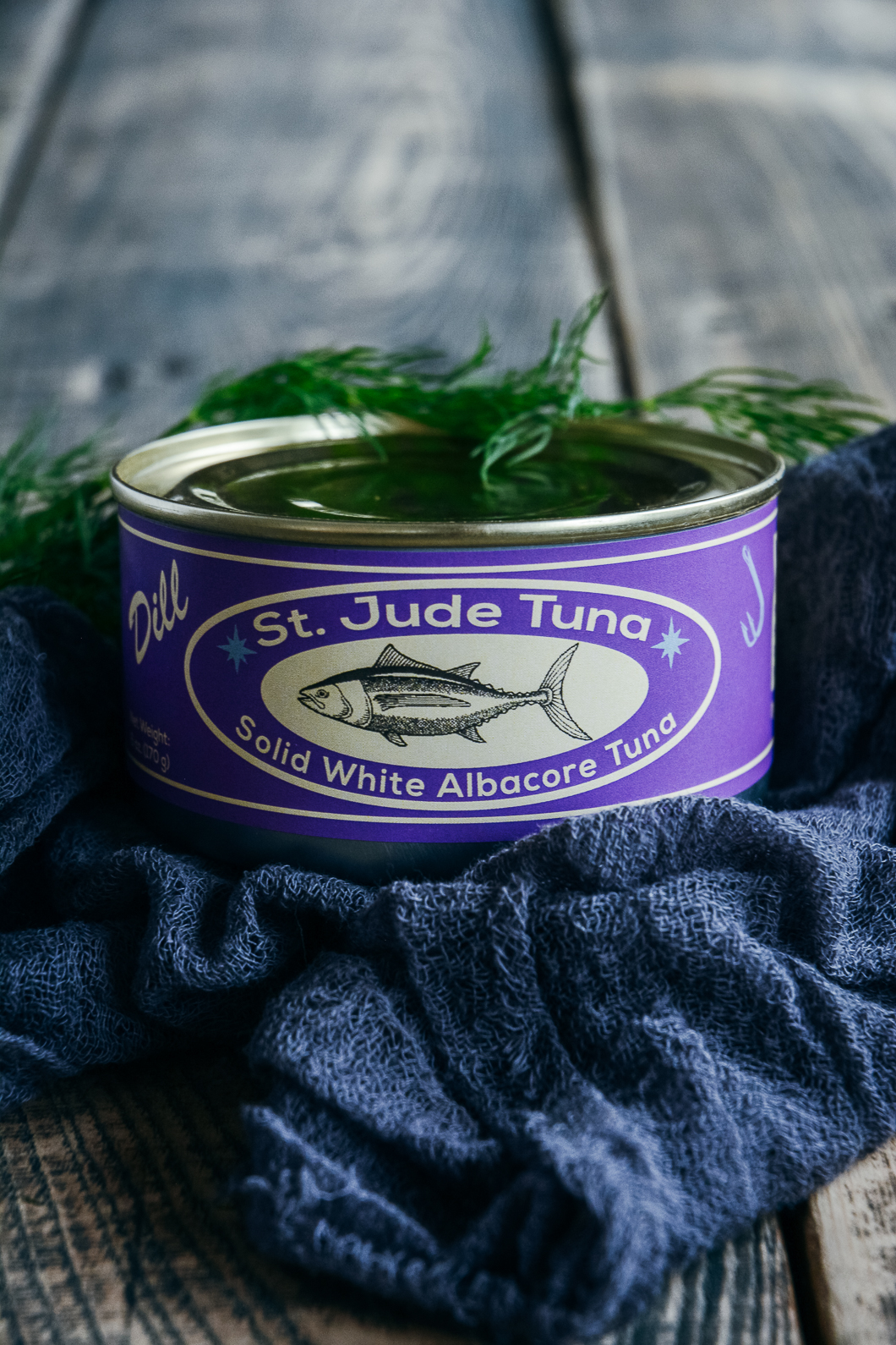 St. Jude canned tuna on table
