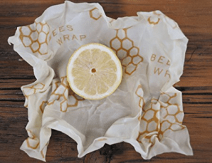Image shows a piece of bees wrap, as described in this post on CALMERme.com