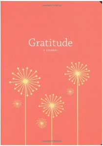 Image shows a gratitude journal, as described in this post on CALMERme.com
