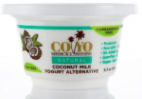 Image shows carton of CoYo plain yogurt, as described in this post on CALMERme.com