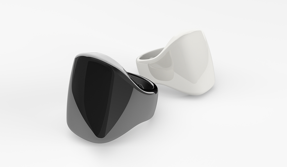 Image of black and white oura ring from CALMERme.com blog post