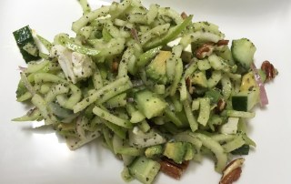 Image showing curly apple poppy seed salad from CALMERme.com