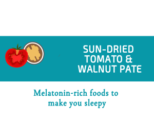 Blogheader for melatonin rich foods from CALMERme.com