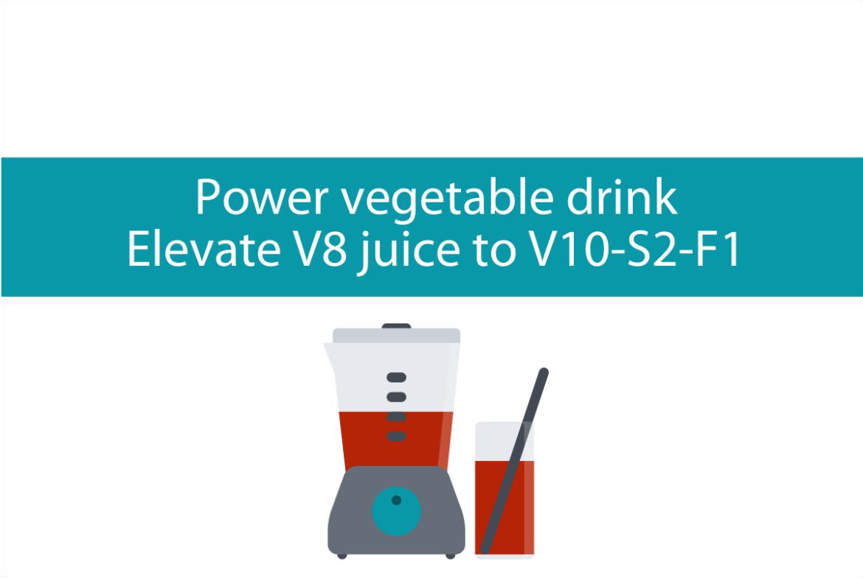 Blogheader image of power vegetable drink recipe from CALMERme.com
