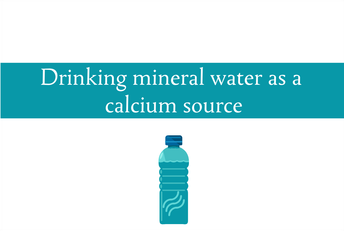 Blogheader about drinking mineral water as a significant calcium source in the diet from CALMERme.com
