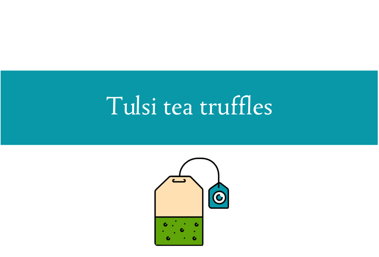 Tulsi tea truffles blogheader from CALMERme.com