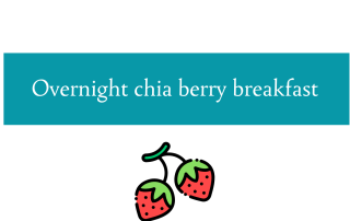 Blogheader for chia berry breakfast recipe from CALMERme.com