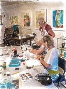 Enameling class photo from CALMERme.com