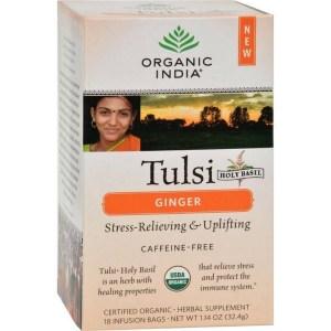 Tulsi ginger tea from CALMERme.com