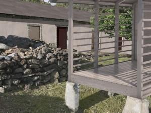 Casa da Ganhoa seen through granary