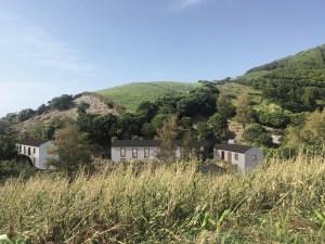 Vista sobre as casas