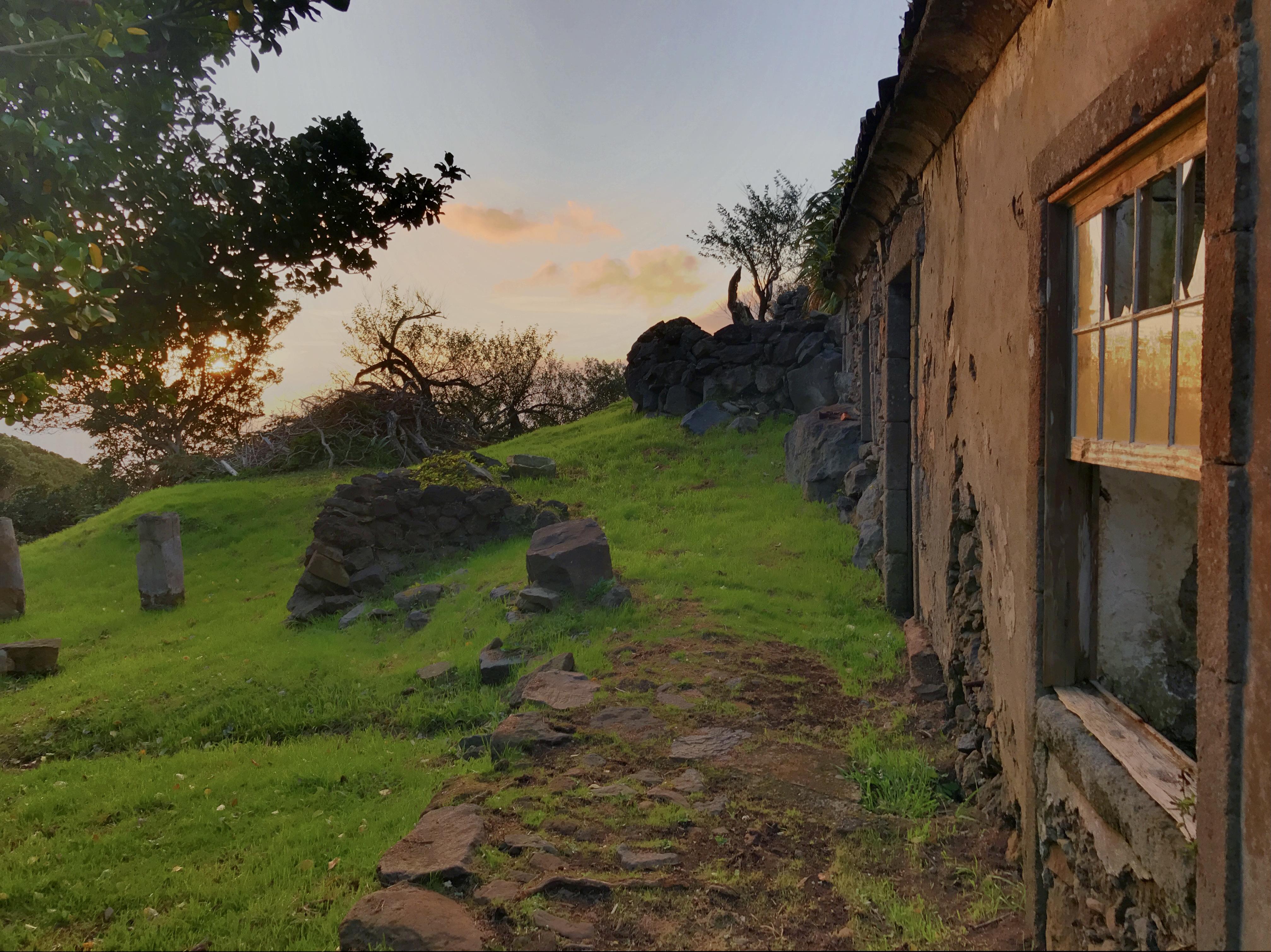 Casa da Ganhoa ao pôr-do-sol