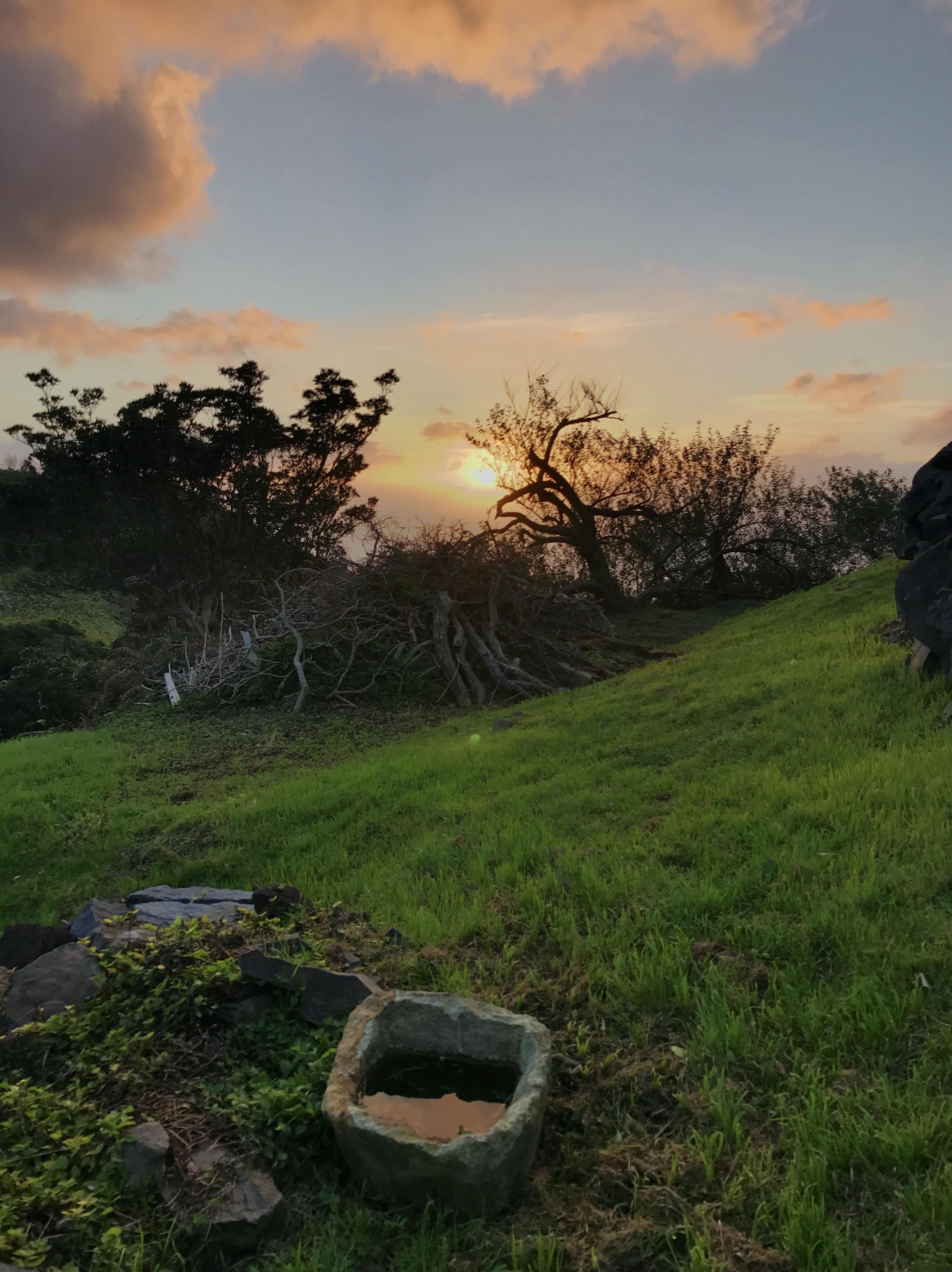 Gamelão da Casa da Ganhoa ao pôr-do-sol