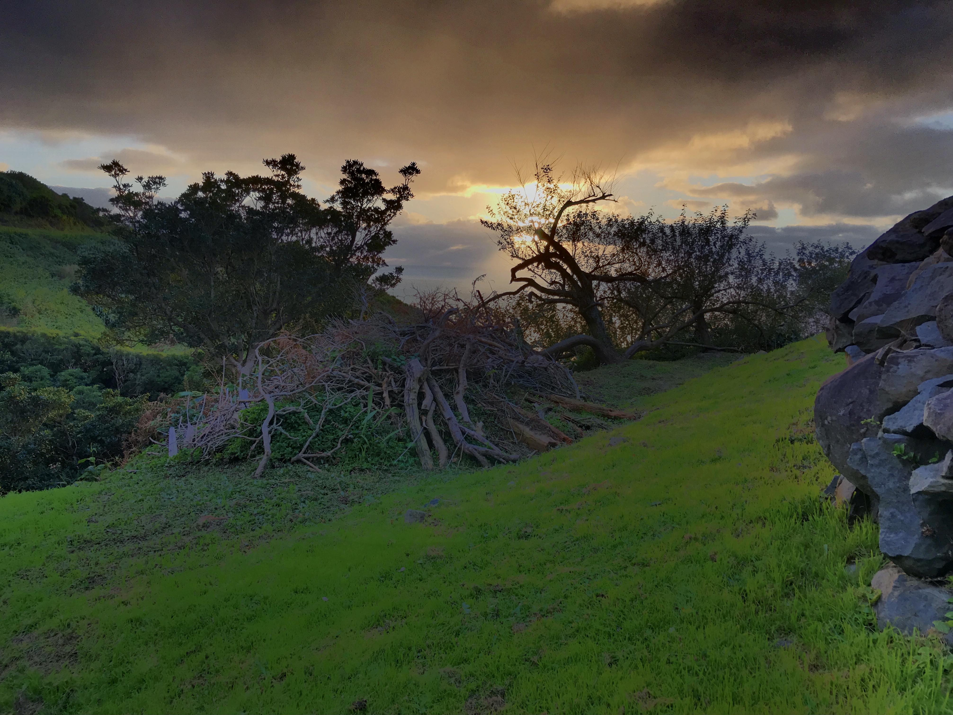 Pôr-do-sol frente à Casa da Ganhoa
