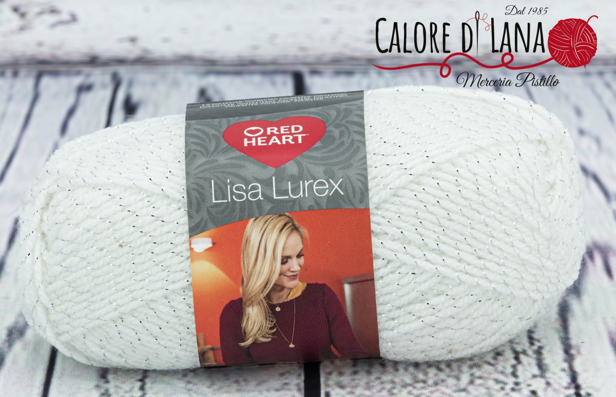 Lisa Lurex Red Heart Col. 1 - Calore di Lana www.caloredilana.com