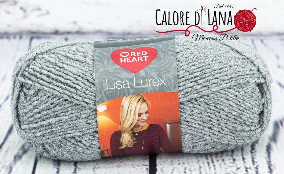 Lisa Lurex Red Heart Col. 9 - Calore di Lana www.caloredilana.com