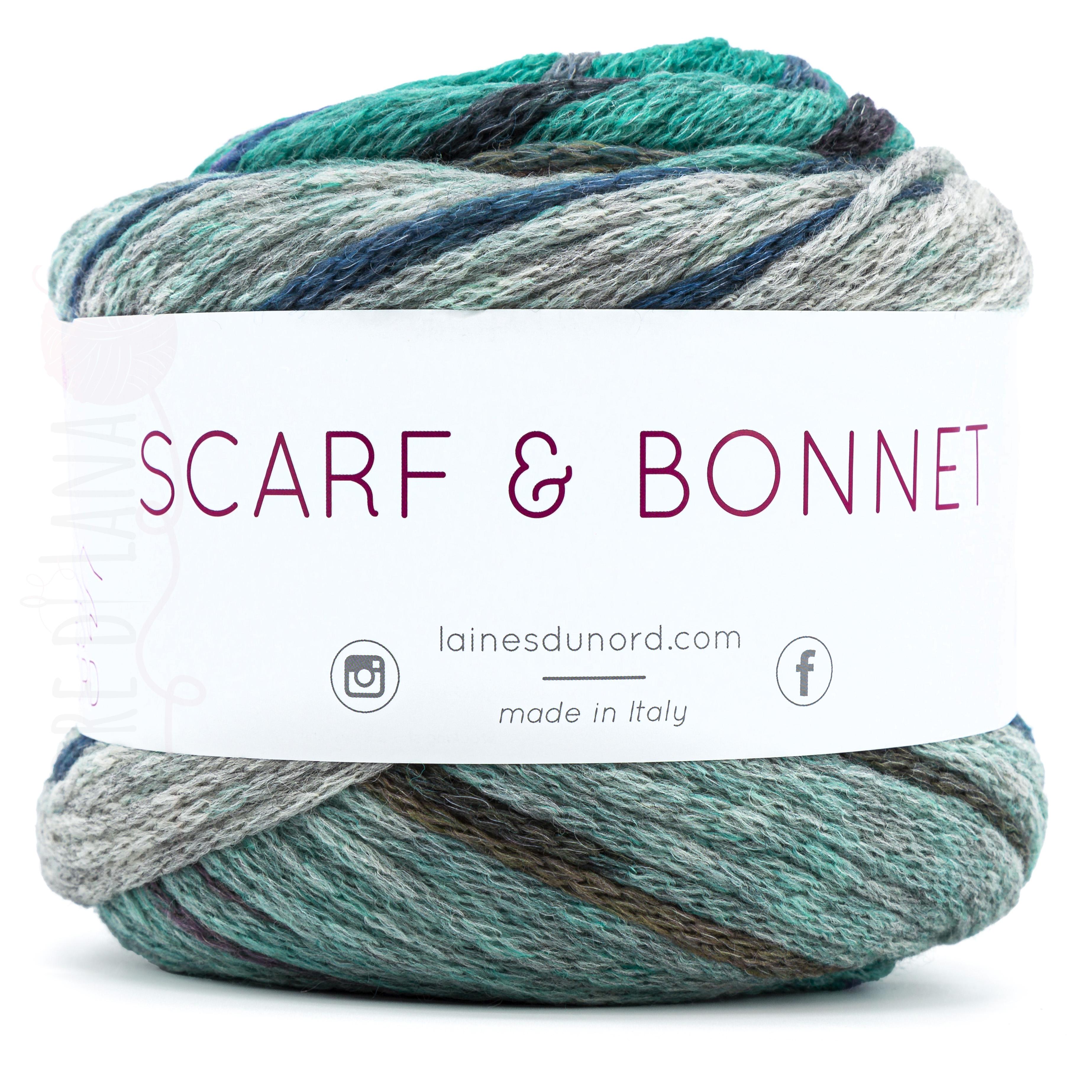 Scarf and Bonnet Laines du Nord - Calore di Lana