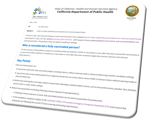 CDPH Vaccination Guidance