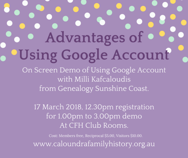 On screen Demo: Advantages of Using Google Account