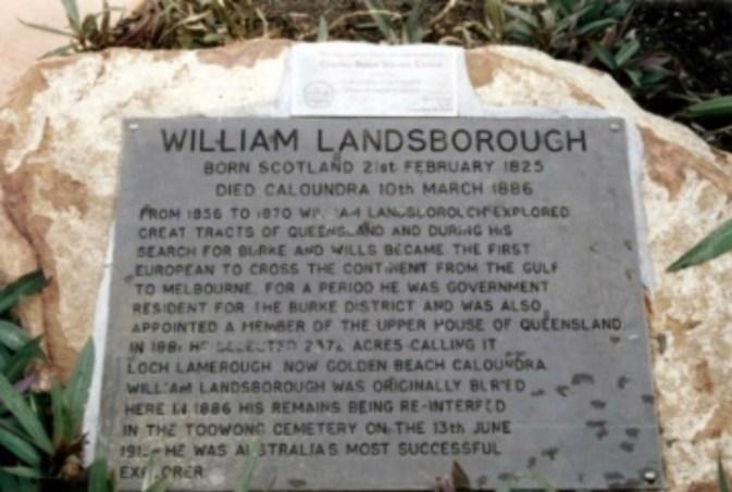 William Landsborough memorial