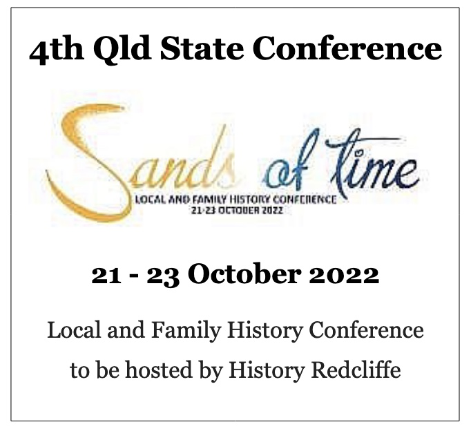 Sands in Time Queensland local and family history conference.