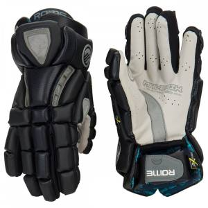 Details The Maverik Rome RX3 glove is built on our anatomical speed fit profile with a close to the hand fit for maximized freedom of movement. Poron XRD foam is soft to the touch but hardens on impact providing supreme protection across the thumb and index finger The 37.5 liner allows for fast sweat evaporation keeping hand dry and cool Quattro+ palm powered by Ax Suede provides a durable soft and natural feel between the hand and shaft for unmatched handle and consistency Flowcool venting on the back of the hand allows heat to disperse Available for goalies with Torgueloc 2 design: thumb protection from hyper-extension, and high velocity impacts