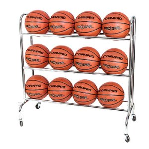 CHAMPRO BR12 BALL RACK WITH CASTERS