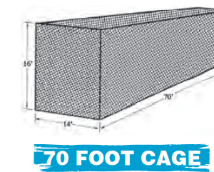 70 FOOT SLOW PITCH SOFTBALL CAGE