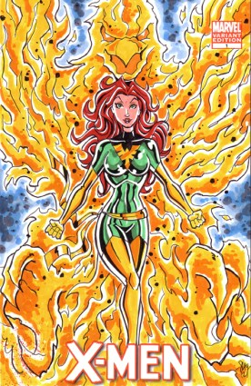 Jean Grey Phoenix Sketch Cover