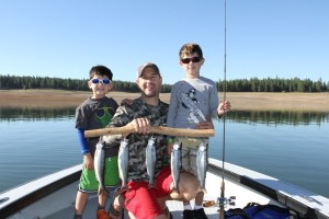 Ben Stern and sons Cole and Luke after a great day at Stampede Reservoir. (TIGHT LINES GUIDE SERVICE)